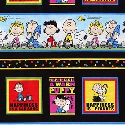 ... peanuts characters in rows $ 9 95 colorful peanuts fabric perfect for