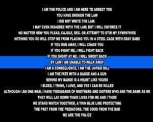 Police officer creed panel