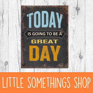 ... Wall-Sign-Today-Is-Going-To-Be-A-Great-Day-Typography-Quote-Home-Decor