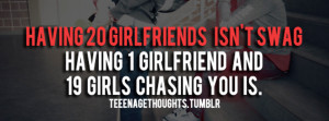 20 Girlfriends Is Not A Swag Facebook Cover