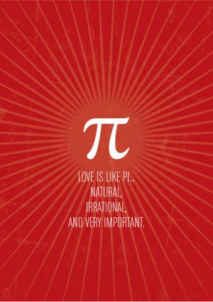 Why Love is Like Pi