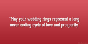 ... rings represent a long never ending cycle of love and prosperity
