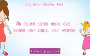 Big Sister Quotes #63 at WowSayings.com
