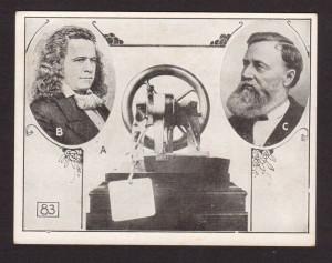 Elias Howe Isaac M Singer Sewing Machine Inventors 1926 News Card ...