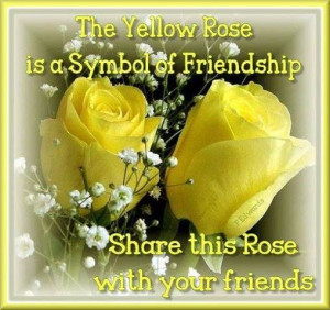 yellow rose friendship quotes