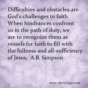 Christian Quotes About Faith Quote on faith by a b simpson