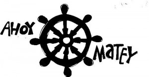 Pirate Ahoy Matey Helm Steering Wheel Vinyl Lettering Wall Sayings ...