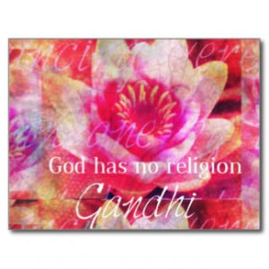 God has no religion - Gandhi quote Postcard