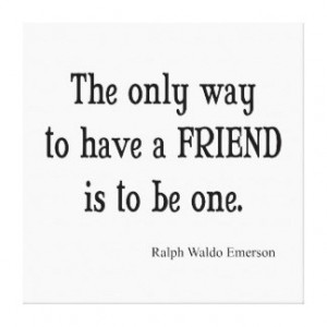 Vintage Emerson Inspirational Friendship Quote Gallery Wrap Canvas