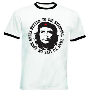 Details over CHE GUEVARA QUOTE - NEW BLACK RINGER COTTON TSHIRT