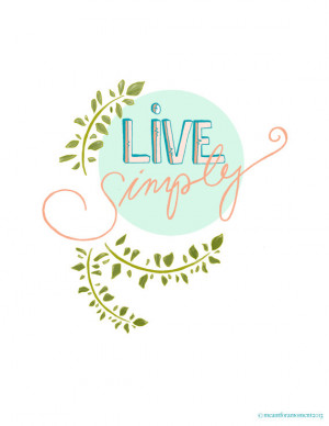 LIVE SIMPLY Quote, Pastel, Sentiment, Inspiring, Hand Written ...