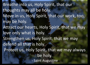 St Augustine's Prayer of The Holy Spirit As A Blessing