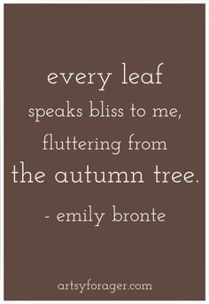 . Holiday Quotes, Bronte Quotes, Autumn Love Quotes, Bronte Sisters ...