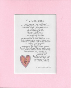 Big Sister Poems The little sister of a big