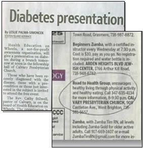 diabetes education brochure
