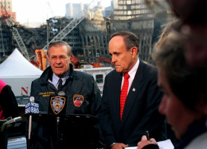 stewardship quotes donald rumsfeld and mayor rudy giuliani at the site ...