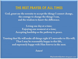 Here is the Best Prayer of All Times for our lovely Readers:-