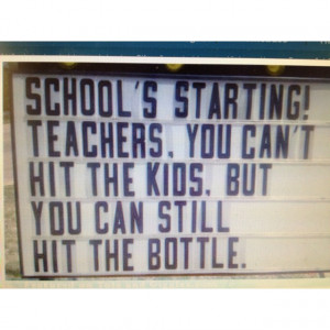 Back to school! Funny!