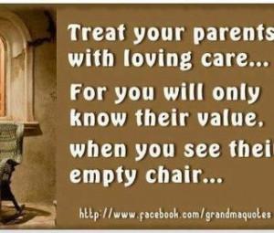 Their empty chair. :(
