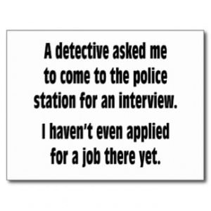 Police Sayings Police station postcard