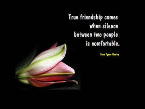 Friendship quotes-Silence