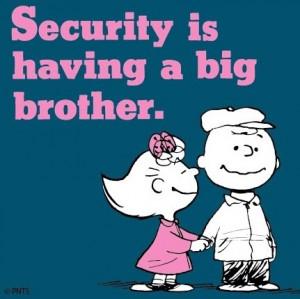 Big Brother Security Peanuts
