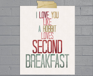 the hobbit accessories second breakfast print