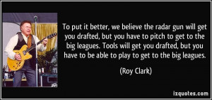 ... big leagues. Tools will get you drafted, but you have to be able to