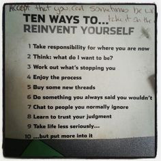 How to reinvent yourself at 30