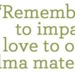 impart love - green quotes