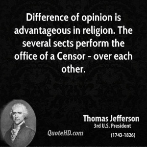 Difference Opinion Advantageous Religion The Several Sects