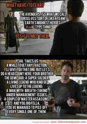 Funny Quotes From Avengers Movie