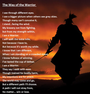 The way of the warrior, err, writer