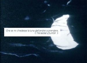 love, moon, phrases, quotes, sea, tumblr, frasi italiane