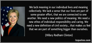 More Hillary Rodham Clinton Quotes