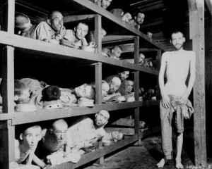 These are slave laborers in the Buchenwald concentration camp near ...