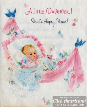 welcome baby girl cards