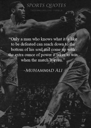 Wise words from Muhammad Ali