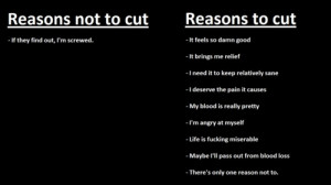 self injury cutting quotes
