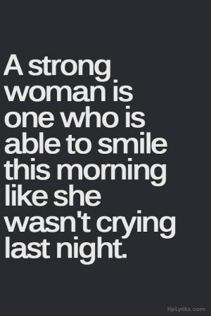 strong woman is