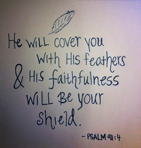 ... With His Feathers & His Faithfulness Will Be Your Shield - Bible Quote