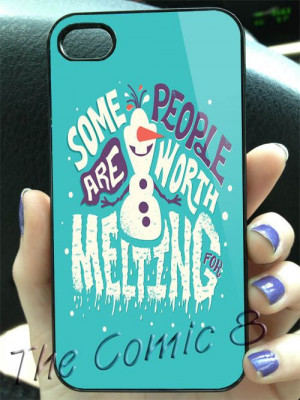 Disney Frozen Olaf Frozen Collage Quotes 2 Design for iPhone 4/4s/5/5s ...