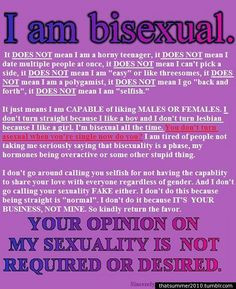bisexuality clarification. because someone should have said this a ...