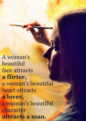 womans beautiful face attracts a flirter a womans beautiful heart ...