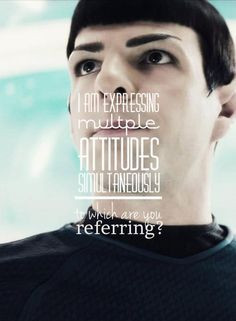 ? spock quote from star trek 'into darkness' movie. Nerd Side, Quotes ...