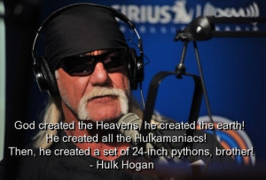 Hulk hogan, quotes, sayings, about god, famous quote