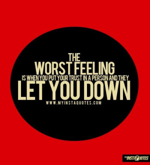 feeling let down quotes