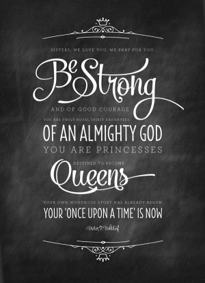 friday freebie: be strong quote