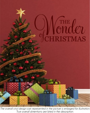 Vinyl Wall Art - Christmas Holiday Quote - The Wonder Of Christmas ...