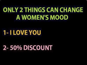 womans mood, funny women, sale, shopping